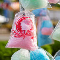 Carnival King 11 1/2 inch x 18 1/2 inch Printed Quick Pak Cotton Candy Bag   - 1000/Case