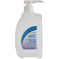 Kutol 65636 Health Guard 33.8 oz. / 1 Liter Dye and Fragrance Free 62% Alcohol Clean Shape Pump Bottle Instant Hand Sanitizer Gel - 8/Case