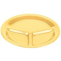 GET CP-10-TY Diamond Mardi Gras 10 1/4 inch Tropical Yellow Three Compartment Melamine Plate - 12/Case