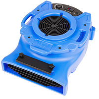 B-Air VLO-25BL Blue Ventlo-25 Low Profile Variable Speed Air Mover - 1/4 HP