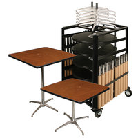 Resilient 200 Series Plywood 30 inch x 30 inch Square Adjustable Height Bistro Table Package