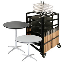 Resilient ABS Plastic 30 inch Round Adjustable Height Bistro Table Package