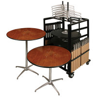 Resilient 200 Series Plywood 36 inch Round Adjustable Height Bistro Table Package