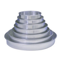 American Metalcraft HA90091.5P Perforated Tapered / Nesting Heavy Weight Aluminum Pizza Pan - 9 inch x 1 1/2 inch