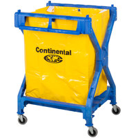 Continental Laundry Cart, Huskee 275 Blue X Frame Folding Cart