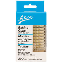Ateco 6421 1 3/4 inch x 1 inch Gold Baking Cups 200 / Box (August Thomsen)
