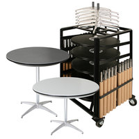 Resilient ABS Plastic 36 inch Round Adjustable Height Bistro Table Package
