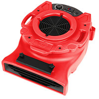 B-Air VLO-25RD Red Ventlo-25 Low Profile Variable Speed Air Mover - 1/4 HP
