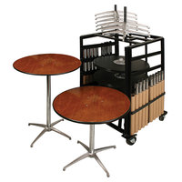 Resilient 200 Series Plywood 30 inch Round Adjustable Height Bistro Table Package