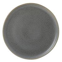 Dudson EG254 Evo 10 inch Matte Granite Flat Round Stoneware Plate by Arc Cardinal - 12/Case