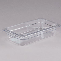 Cambro 32CW135 Camwear 1/3 Size Clear Polycarbonate Food Pan - 2 1/2 inch Deep