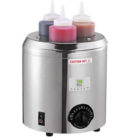 Server SBW 86810 Signature Touch 3 Qt. Round Warmer with 3 Bottles - 120V, 500W