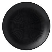 Dudson EJ295 Evo 11 5/8 inch Matte Jet Coupe Round Stoneware Plate by Arc Cardinal - 12/Case