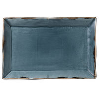 Dudson HBL00 Harvest 11 1/4 inch x 7 1/2 inch Blue Rectangular China Platter by Arc Cardinal - 6/Case