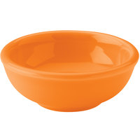Hall China 30178325 Tangerine 5 oz. China Salsa Bowl - 36/Case