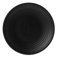 Dudson EJ205 Evo 8 inch Matte Jet Coupe Round Stoneware Plate by Arc Cardinal - 24/Case