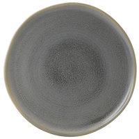 Dudson EV318 Evo 12 1/2 inch Matte Granite Flat Round Stoneware Plate by Arc Cardinal - 8/Case