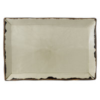 Dudson HL002 Harvest 13 1/4 inch x 9 inch Linen Rectangular China Platter by Arc Cardinal - 6/Case