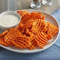 McCain Harvest Splendor 2.5 lb. Sweet Potato Cross Trax Waffle Fries - 6/Case