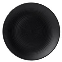 Dudson EJ273 Evo 10 3/4 inch Matte Jet Coupe Round Stoneware Plate by Arc Cardinal - 12/Case