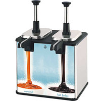 Server EZT 85899 EZ-Topper 48 oz. 4-Pouch Twin Topping Warmer with Heated Spout - 120V, 400W