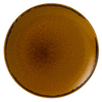 Dudson HB260 Harvest 10 1/4 inch Brown Coupe Round China Plate by Arc Cardinal - 12/Case