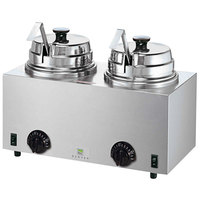 Server Twin FS 81220 3 Qt. Round Topping Warmer with 2 Ladles - 120V, 1000W