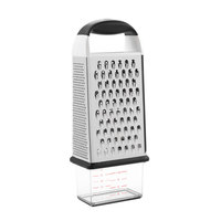 OXO 1057961 Good Grips 11 13/16 inch 4-Sided Stainless Steel Box Grater with Non-Slip Handle