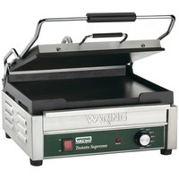 Waring WFG250 14 1/2 inch x 11 inch Tostato Supremo Large Smooth Top & Bottom Panini Grill 120V