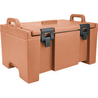 Cambro UPC100157 Coffee Beige Camcarrier Ultra Pan Carrier with Handles - Top Load for 12 inch x 20 inch Food Pans