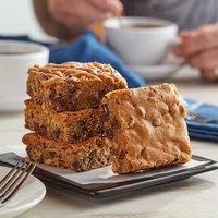 David's Cookies 4 oz. Pre-Cut Blondie Brownie 24-Count Tray - 2/Case