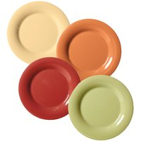 GET SP-WP-6-COMBO Diamond Harvest 6 1/2 inch Wide Rim Plate Combo Pack - 48/Case