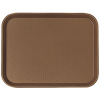 "Cambro 1216FF167 12"" x 16"" Brown Customizable Fast Food Tray - 24/Case"