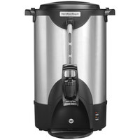 Hamilton Beach HCU040S 40 Cup (200 oz.) Double Wall Stainless Steel Coffee Urn - 1440W