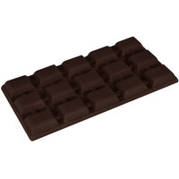 Fat Daddio's PCM-2016 ProSeries Polycarbonate 15 Square 3-Bar Chocolate Mold