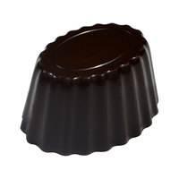 Fat Daddio's PCM-1003 ProSeries Polycarbonate 24 Compartment Fluted Oval Chocolate Mold