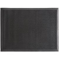 Choice 24 inch x 32 inch Black Rubber Finger-Scraper Top Anti-Fatigue Mat - 1/2 inch Thick