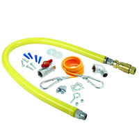 T&S HG-4C-72K Safe-T-Link 72 inch Quick Disconnect Gas Appliance Connector 1/2 inch NPT with Installation Kit