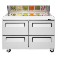 Turbo Air TST-48SD-D4 48 inch 4 Drawer Refrigerated Sandwich Prep Table