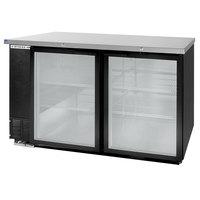 Beverage-Air BB58GY-1-BK-LED-WINE 58 inch Black Back Bar Wine Series Refrigerator - 2 Glass Doors