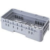 Cambro HBR414151 Soft Gray Camrack Customizable Half Size Open Base Rack with 1 Extender