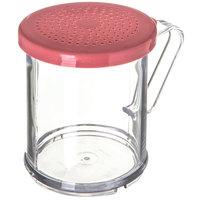 Carlisle 425055 8 oz. Polycarbonate Shaker / Dredge with Rose Lid for Medium Ground Product