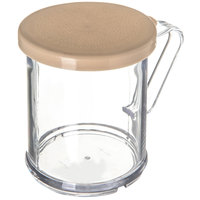 Carlisle 427006 8 oz. Polycarbonate Shaker / Dredge with Beige Lid for Fine Ground Product
