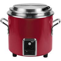Vollrath 7217255 Red Finish Retro 11 Qt. Stock Pot Kettle Rethermalizer - 120V, 1450W