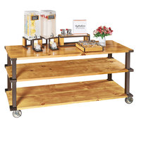 Cal-Mil 22101-99 Sierra 3 Shelf Wooden Modular Cart - 72 inch x 24 inch x 44 inch