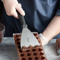 Ateco 1319 9 3/4 inch x 4 inch Stainless Steel Chocolate Scraper with Plastic Handle