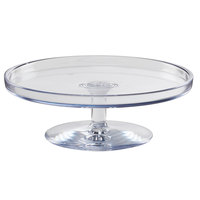 Cal-Mil 22057-14-12 14 inch x 5 inch Polycarbonate Footed Pedestal Cake Stand
