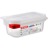 Araven 03020 1/9 Size Translucent Polypropylene Food Pan with Airtight Lid - 2 1/2 inch Deep