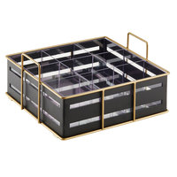 Cal-Mil 22093-90 Empire Black Metal 9-Section Organizer - 11 3/4 inch x 11 1/2 inch x 6 inch