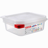 Araven 03023 1/6 Size Translucent Polypropylene Food Pan with Airtight Lid - 2 1/2 inch Deep